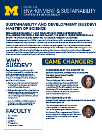 Sustainability and Development brochure