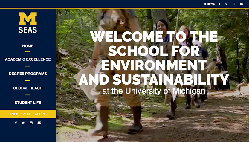School for Environment and Sustainability (SEAS) | University of