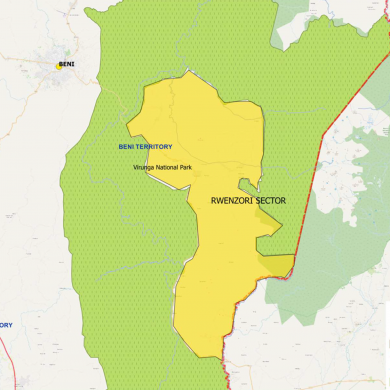 Map of the Rwenzori region where the survey instrument will be deployed