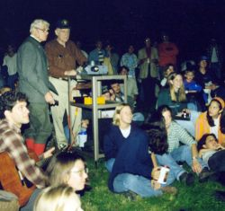 Burt Barnes and Chuck Olson at SNRE Campfire